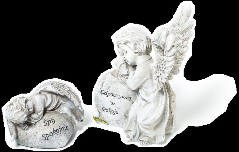 Rzeźby aniołków